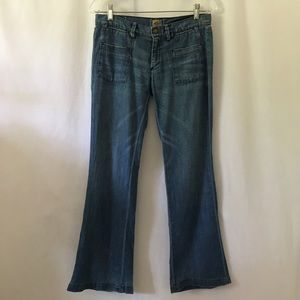 Goldsign Flare Leg Blue Jeans
